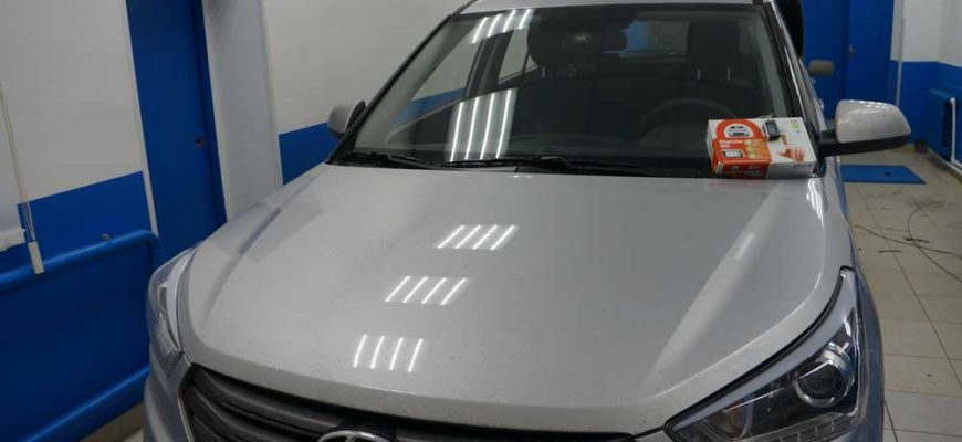 Установка сигнализации  StarLine с управлением с кнопок в салоне с автозапуском на Hyundai Creta