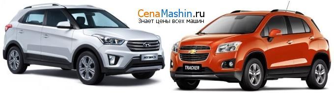 Сравнение Hyundai Creta (2016-2020) 2.0 AWD и Chevrolet Tracker 1.8