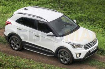 A173ALP.2310.1 Пороги алюминиевые Rival Premium для Hyundai Creta 2016-2021