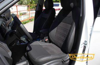 Чехлы из экокожи с велюром для Hyundai Creta 2016-2021 Автопилот