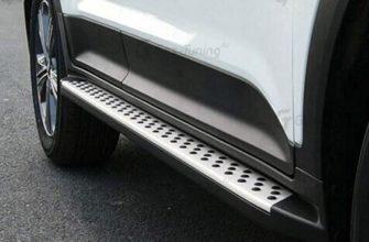 Пороги алюминиевые Bmw-Style Hyundai Creta (2016-2020) № D173AL.2310.1 - купить по лучшей цене на