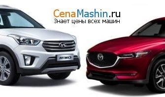 Сравнение Mazda CX-5 (2015-2017) 2.0 и Hyundai Creta (2016-2020) 2.0
