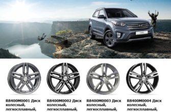 Размер колёс Hyundai Creta: всё о родных и сменных шинах и дисках